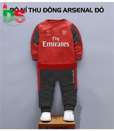 Bộ nỉ cao cấp trẻ em CLB Arsenal đỏ