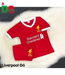 Áo bóng đá trẻ em Liverpool đỏ