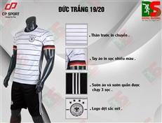 Bộ quần áo bóng đá CP Đức trắng