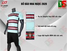 Bộ quần áo bóng đá CP Bồ Đào Nha xanh ngọc