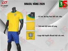 Bộ quần áo bóng đá CP Brasil vàng