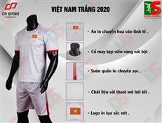 Bộ quần áo bóng đá CP Việt Nam trắng