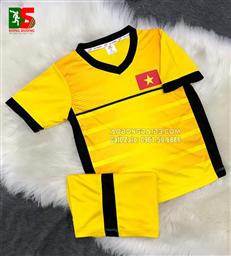 Áo bóng đá trẻ em Việt Nam vàng training 2018