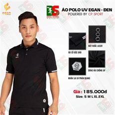 Áo Polo UV Egan màu đen