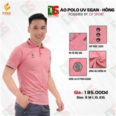Áo Polo UV Egan màu hồng
